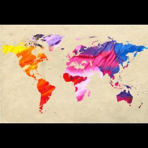 Weltkarte in bunten Farben