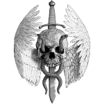 Winged Skull & Sword