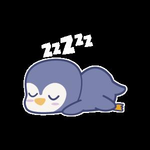 Pinguin Pyjama Tee, schlafende Tiere, Tier