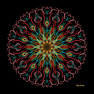 Mandala Flower Vintage Mode (Poster)