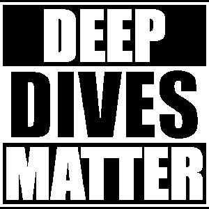 Tiefe Tauchgänge zählen Taucher Meer Geschenk