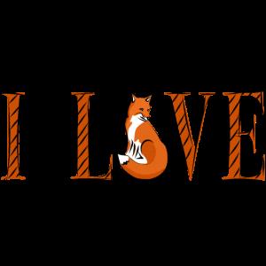 ich liebe fuechse - I love fox