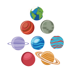 Acht Planeten Sonnensystem Weltraum