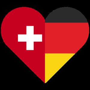 Deutschland Schweiz Herz Geschenk