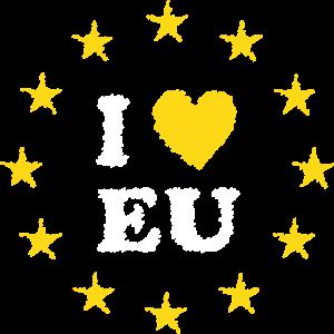 I Love EU Scribble
