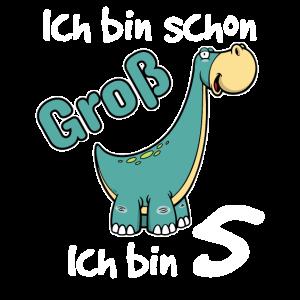 Kinder 5. Geburtstag Shirt Dino Jungen 5 Jahre