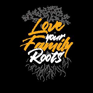 Lieben Sie Ihr Familien-Wurzel-T-Shirt