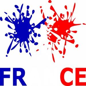 France - red white blue
