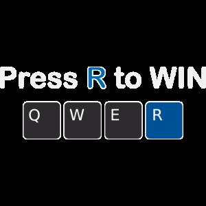 Press R to win in Blau Design
