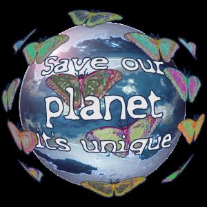 Save our planet it's unique