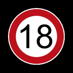 Happy Birthday 18 Verkehrsschild Geburtstag