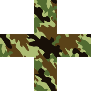 Greek Cross Camouflage green