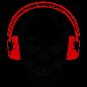 totenkopf Dj musik kopfhörer Hardrock Techno House