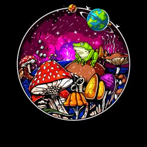 Psychedelische Zauberpilze Halluzinogener Frosch