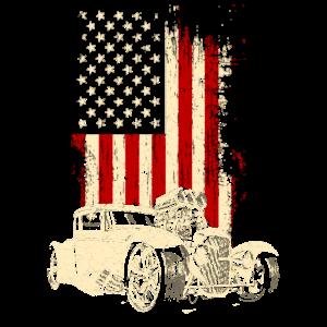 Hotrod Classic Car Auto Wagen Fahrzeug Fahrer USA