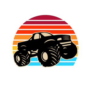 Retro Monster Truck Auto Geschenk   Monstertruck