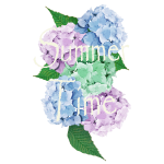 Summer Vintage Hydrangea floral by patjila