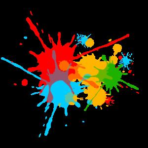 Farbspritzer, Farbkleckse, Farbe, color, bunt, fun