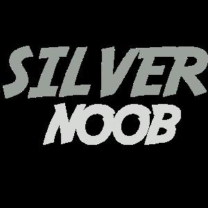 silber Noob Zocker Gaming Geschenk Design