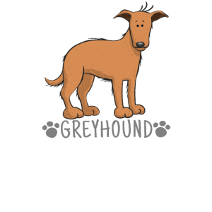 Hund Zeichnung - Windhund