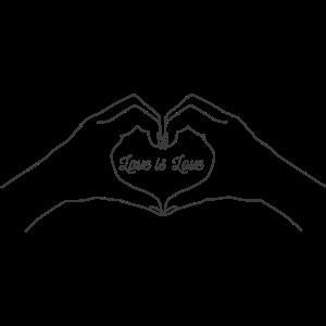 love is love Hände Liebe
