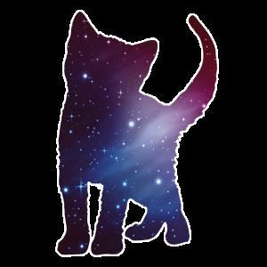 Katze Kitten Silhouette Cat Weltall Space Geschen