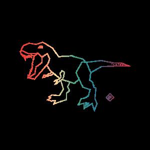 Rainbow Dino Tyrannosaurus Rex