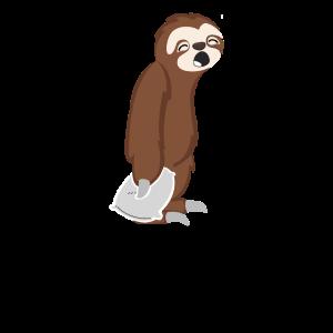 Sleepy Sloth Schläfriges Faultier Nachtmensch
