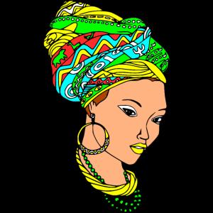 Afrika - Coole Farben Afrika Amazigh Frau Gesicht