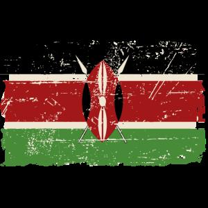 Kenya Vintage Flag