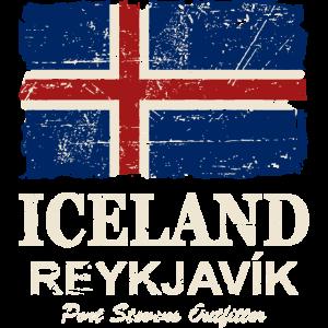 Iceland Vintage Flag