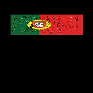 Portugal-Land-Vintage portugiesische Staatsflagge