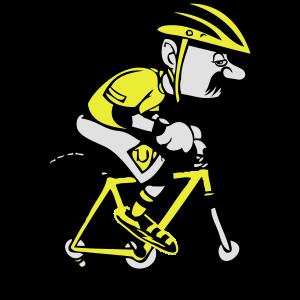 fahrrad witzig comic alter mann