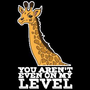 Giraffe Wildtier Huftier Sprüche Level 1 Geschenk