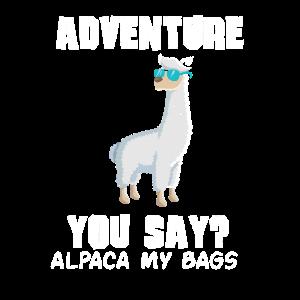 Alpaka Reisen Urlaub Abenteuer Geschenk