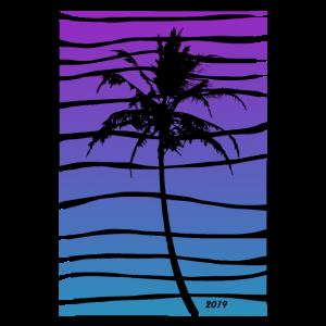 Palme mit lila Farbverlauf