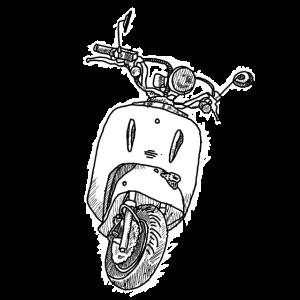 Lässiger Roller für Italien Flair