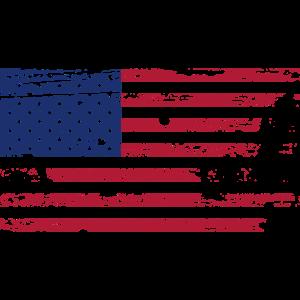 USA Amerika Flagge Grunge Vintage Oldschool