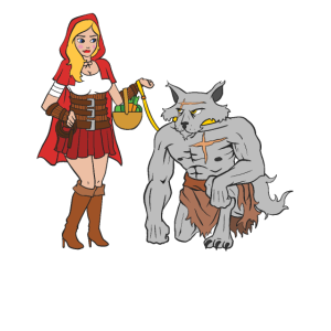 Rotkäppchen ist der Boss - Gezähmter Wolf An Leine