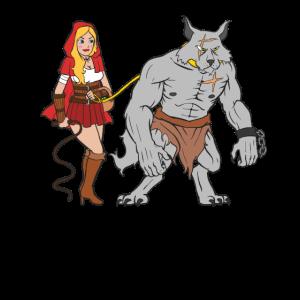 Rotkäppchen ist der Boss - Gezähmter Wolf Leine