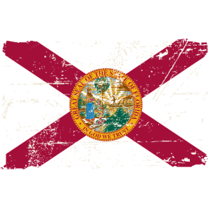 Florida Flag - Vintage Look