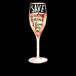 Speichern Sie Wassergetränk-Champagnergraphik