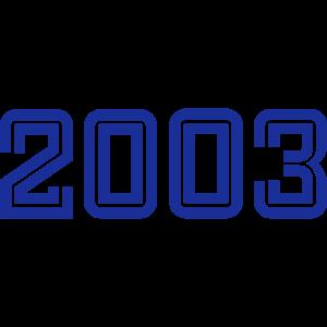 College Zahlen, Jahreszahlen, Jahrgang, 2003