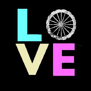 Nettes Fahrrad-Liebesdesign für Radsportfans