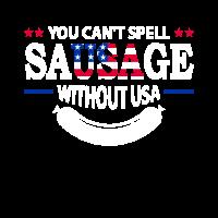USA Grillwurst Grillen Grillfeier Spruch Lustig