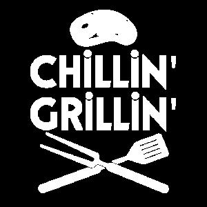 Chillen Grillen Grillbesteck Grillfleisch Bier