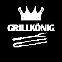 Grillkönig Grillen Grillmeister Krone Grillbesteck