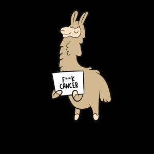 F-Krebs-Lama, das Geschenk des Zeichen-F * CK hält