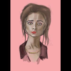 Digitail Painting, Frau, Porträt