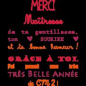 Tablier merci ma tresse cadeau de fin d 39 ann e cm2 tabliers spreadshirt - Remerciement maitresse d ecole cp ...